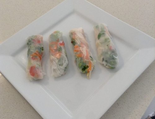 Add a fresh taste to rice paper rolls